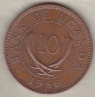Uganda , 10 Cents  1966 , Bronze, KM# 2 - Oeganda