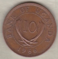 Uganda , 10 Cents  1966 , Bronze, KM# 2 - Uganda