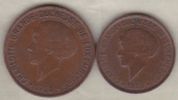 Luxembourg 5 Centimes Et 10 Centimes 1930, Charlotte - Luxembourg