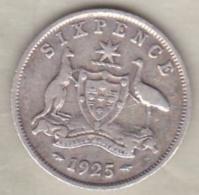 Australie , 6 Pence 1925  , George V , En Argent - Monnaie Pré-décimale (1910-1965)