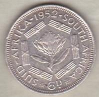 AFRIQUE Du SUD . 6 PENCE 1952 .GEORGE VI .ARGENT - South Africa