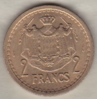 MONACO. 2 FRANCS Sans Date (1943). LOUIS II . BRONZE-ALUMINIUM - 1922-1949 Louis II