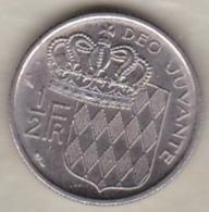 MONACO . 1/2 FRANC 1965  RAINIER III - 1960-2001 Nouveaux Francs