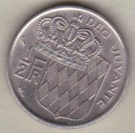 MONACO . 1/2 FRANC 1968  RAINIER III - 1960-2001 Nouveaux Francs