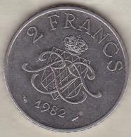 MONACO . 2 FRANCS 1982  RAINIER III - 1960-2001 Nouveaux Francs