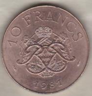 MONACO . 10 FRANCS 1981  RAINIER III - 1960-2001 Nouveaux Francs