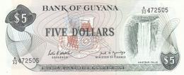 Guyana - 5 Dollars (1966-92) P22 E - UNC - Guyana