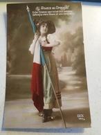GUERRE 14-18 - L ALSACE AU DRAPEAU DIX 145/45 - Patriotic