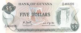 Guyana - 5 Dollars (1966-92) P22 F - UNC - Guyana