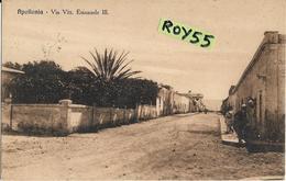 Libia Colonia Italiana Colonie Italiane Apollonia Via Vittorio Emanuele III Anni 30 (vedi Retro) - Libye