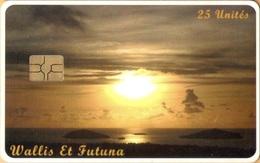 Wallis And Futuna - WF-SPT-0045, Sunrise (Lever De Soleil), Sun, Sunsets, 25 U, 3.500ex, 5/11, Used - Wallis En Futuna