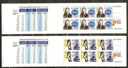 1996 EUROPA CEPT EUROPE Islanda Iceland Serie Di 2 Libretti Europa Di 10v. MNH** 2 Booklets - Europa-CEPT