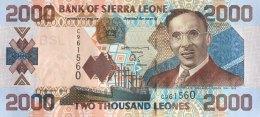 Sierra Leone 2.000 Leones, P-26a (2002) - UNC - Sierra Leone