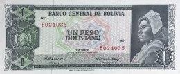 Bolivia 1 Peso Boliviano, P-152a (13.7.1962) -  UNC - Bolivien