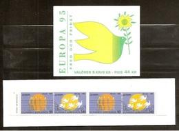 1995 EUROPA CEPT EUROPE GRECIA, SVEZIA 2 Libretti Europa MNH** 2 Booklets Greece, Sweden - Europa-CEPT