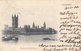 LONDON - Houses Of Parlament, Gel.1900, 4 Fach Frankiert - Houses Of Parliament