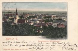 BADEN Bei Wien (NÖ) - Panorama V.Calvarienberg, Gel.1901 - Baden Bei Wien