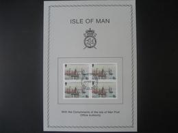 Insel Man- Beleg Mit 4-er Block 1981 - Man (Ile De)
