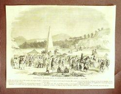 GRAVURE- 166-ASIE-HONG KONG-HABITANTS En ROUTE Vers HAPPY VALLEY-1879 - Prints & Engravings