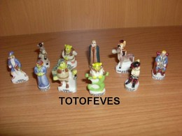 SERIE COMPLETE SCHRECK 3 DE 10 FEVES N° 200 - Charms