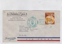 LA QUIMICA C POR A. AIRMAIL ENVELOPE SOBRE CIRCULEE REPUBLICA DOMINICANA TO USA YEAR 1951- BLEUP - Dominicaanse Republiek