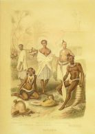 OCEANIE-TAITI/ILE OPOLOU/ILE ROUTOUMA-GRAVURE-A167-COSTUME-1853 - Prints & Engravings