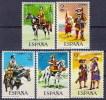 ESPAÑA 1974 - UNIFORMES MILITARES - Edifil Nº 2167-2171 - Yvert 1822-1826 - Textiles