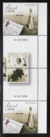 Aland 2008 MNH Scott #276 Letter Writing EUROPA Gutter Pair With Number, Photograph - Aland