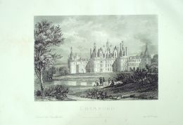GRAVURE-FRANCE-CHAMBORD-2598-1870 - Prints & Engravings