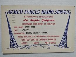 Carte QSL. Armed Forces Radio Service. 1957 - Militaria