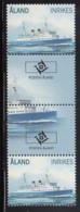 Aland 2009 MNH Scott #288-#289 Passenger Ferries S/S Viking, Newbuilding Gutter Pairs With Emblem - Aland