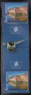 Aland 2009 MNH Scott #291 Algerso, Folgo Nature Gutter Pair With Emblem, Bird - Aland