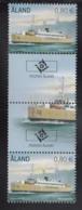 Aland 2011 MNH Scott #311-#312 Passenger Ferries Alandia, Apollo Gutter Pairs With Emblem, Ship - Aland