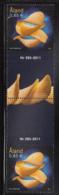 Aland 2011 MNH Scott #318 Potato Chips Gutter Pair With Number - Aland