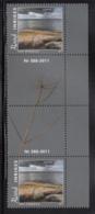 Aland 2011 MNH Scott #322 Hamno, Kokar Gutter Pair With Number - Aland