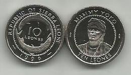 Sierra Leone 10 Leones 1996. UNC - Sierra Leone