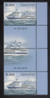 Aland 2012 MNH Scott #325-#326 Passenger Ferries Salty Albatross, Birger Jarl Gutter Pairs With Number - Aland