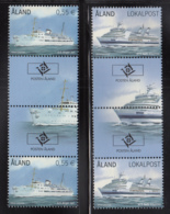 Aland 2012 MNH Scott #325-#326 Passenger Ferries Salty Albatross, Birger Jarl Gutter Pairs With Emblem - Aland