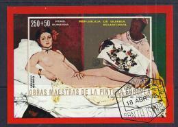 PINTURA - GUINEA EQUATORIAL 1972 - VFU - Desnudos