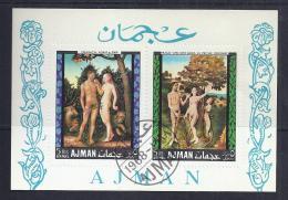 PINTURA - AJMAN 1968 - VFU - Desnudos