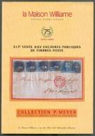 Catalogue De Vente Publique WILLIAME N°217 : Peter MEYER EPAULETTES Et MEDAILLONS - Vente De Mai 2000, Bruxelles, 112 P. - Catalogues De Maisons De Vente