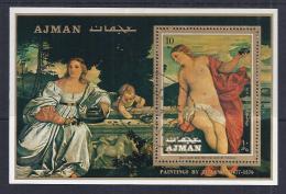 PINTURA - AJMAN 1971 - VFU - Desnudos