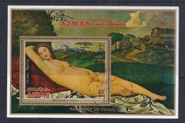 PINTURA - AJMAN 1972- VFU - Desnudos