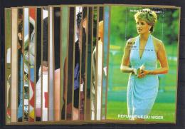 CELEBRIDADES - NIGER 1992 - Yvert #963/80 - MNH ** - Familias Reales