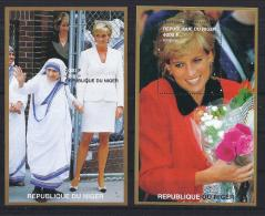 CELEBRIDADES - NIGER 1992 - Yvert #H77/78 - MNH ** - Familias Reales