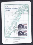 NORUEGA 1988 - HOJA CONMEMORATIVA DEL 150 ANIV. DEL PRINCIPE GUSTAVO - Usados