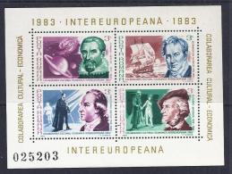 RUMANIA 1983 - Yvert #H159/60 - MNH ** - Hojas Bloque