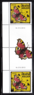 Aland 2013 MNH Butterfly SEPAC Gutter Pair With Number - Aland