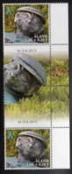 Aland 2013 MNH Semi-postal Statue Gutter Pair With Number - Aland