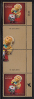 Aland 2015 MNH Wind-up Mechanical Monkey EUROPA Gutter Pairs With Number - Aland